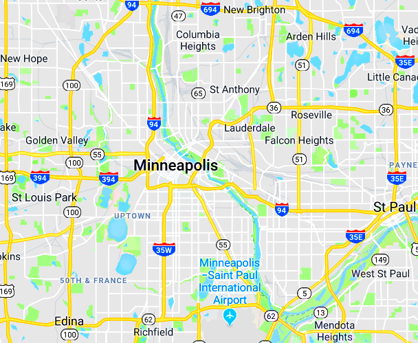 minneapolis dumpsters map